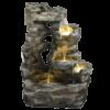 Vysoká kamenná kaskádovitá umělá fontána Strž