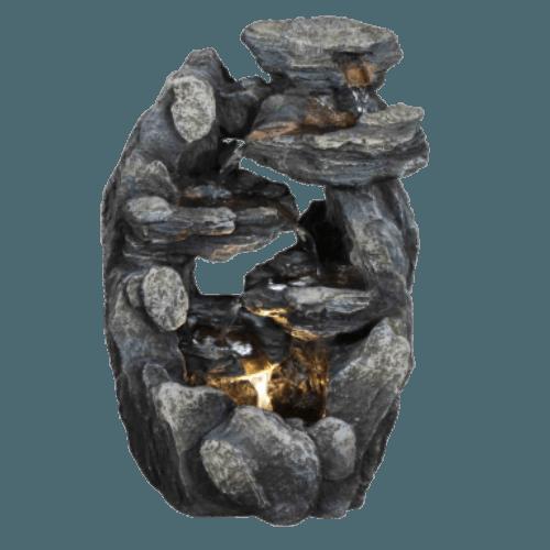 Malá kamenná umělá fontána Hnízdo