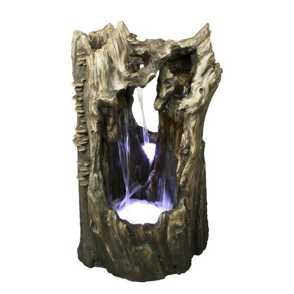 Velká dřevěná umělá fontána - Kmen