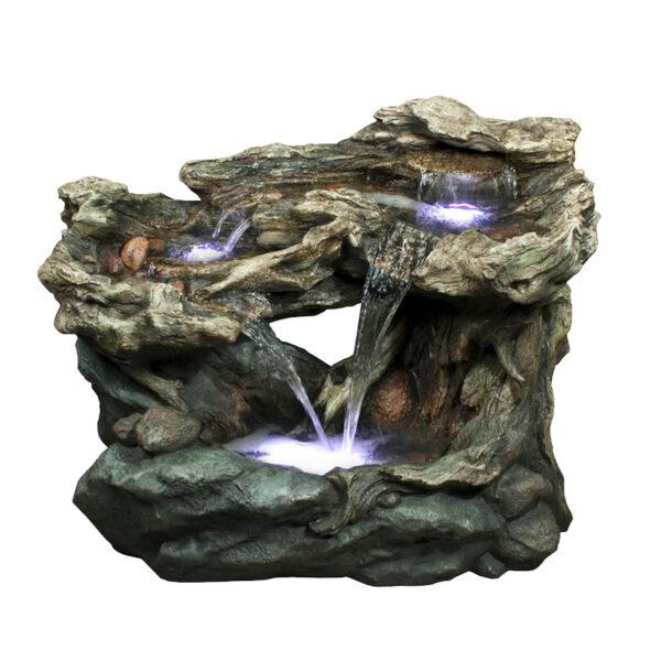 Velká kamenná a dřevěná fontána Laguna