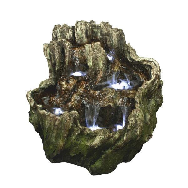 Středně velká dřevěná fontána imitující tvar Močálu