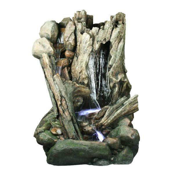 Velka dřevěná fontána pařez