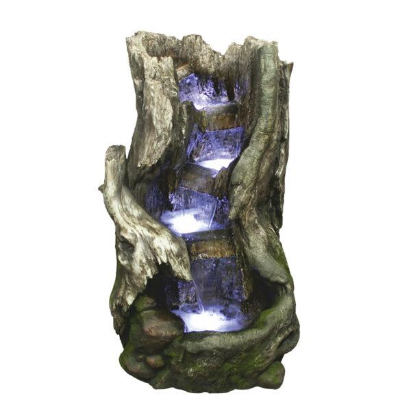 Menší dřevěná fontána podobná fontáně Vodopád - Splav
