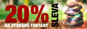 Vánoční sleva 20 % na vybrané fontány