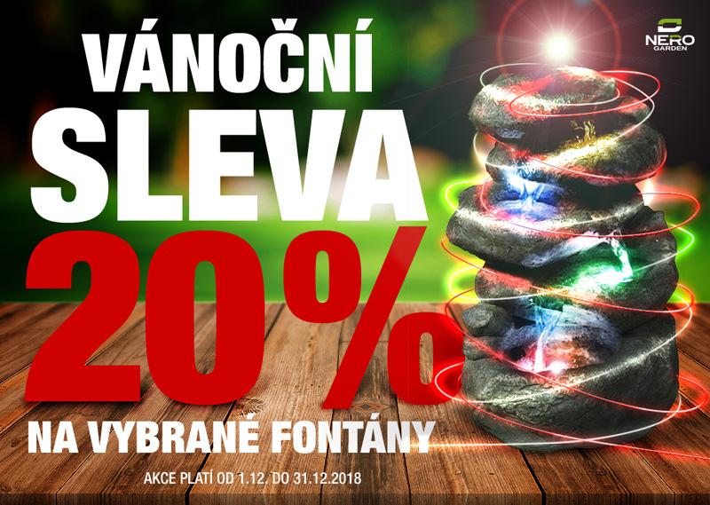 Na vybrané fontány sleva 20 %