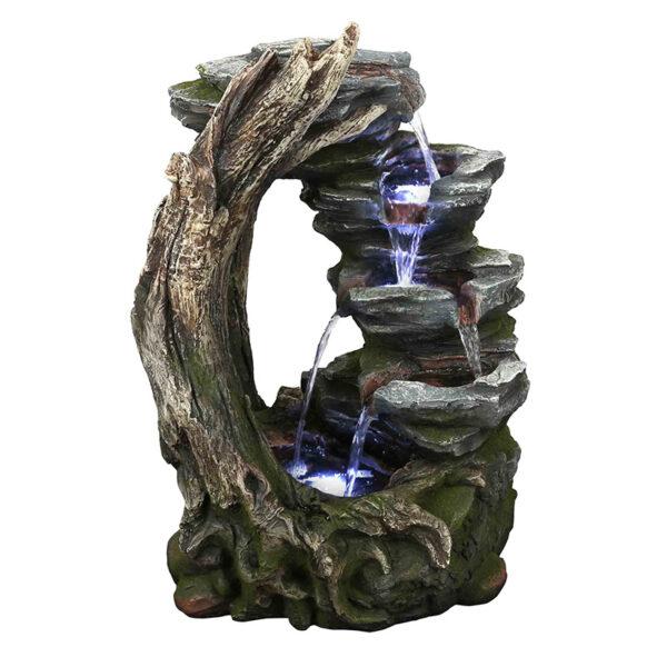 Umělá fontána imitující kámen a dřevo - Břeh