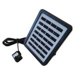 Solární panel s akumulátorem, vodním čerpadlem a LED diodami, 180l/h, 100cm