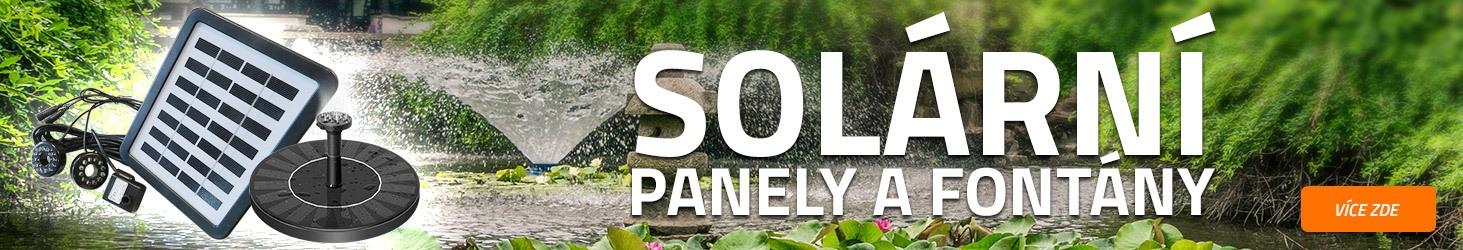 Solární panely a fontány v nabídce eshopu