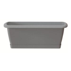 Truhlík s miskou RESPANA SET šedý kámen 39,2 cm
