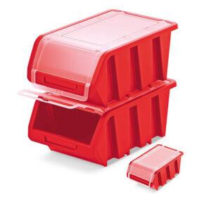 Plastový úložný box uzavíratelný TRUCK PLUS 155x100x70 červený